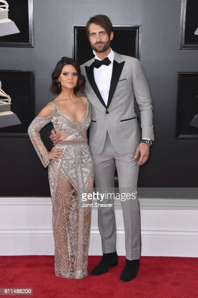 Recording artist Maren Morris and Ryan Hurd attend the 60th Annual GRAMMY Awards at Madison Square Garden on January 28 2018 in New York City
