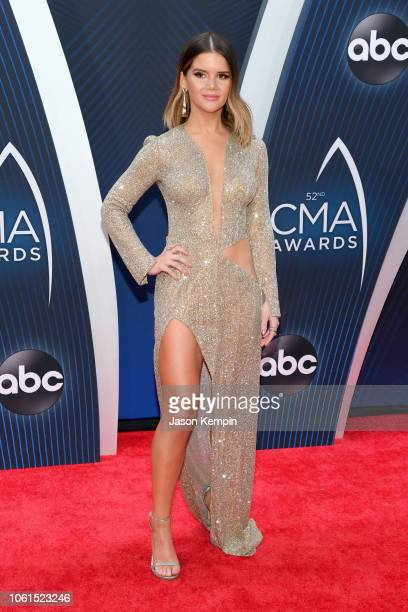 Recording artist Maren Morris attends the 52nd annual CMA Awards at the Bridgestone Arena on November 14 2018 in Nashville Tennessee