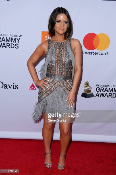 Recording artist Maren Morris attends the Clive Davis and Recording Academy Pre-GRAMMY Gala and GRAMMY Salute to Industry Icons Honoring Jay-Z on...