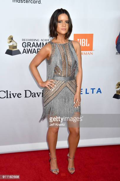Recording artist Maren Morris attends the Clive Davis and Recording Academy PreGRAMMY Gala and GRAMMY Salute to Industry Icons Honoring JayZ on...