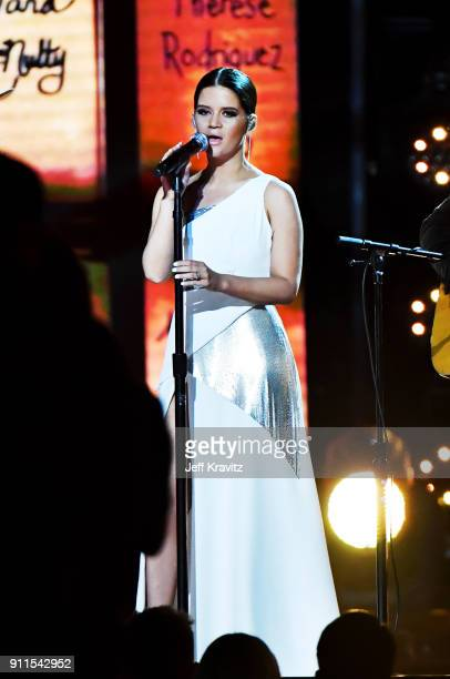 Recording artist Maren Morris performs onstage during the 60th Annual GRAMMY Awards at Madison Square Garden on January 28 2018 in New York City