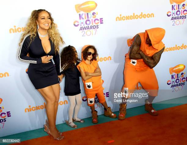 Recording artist Mariah Caery Monroe Cannon Moroccan Cannon and tv personality Nick Cannon attend Nickelodeon's 2017 Kids' Choice Awards at USC Galen...