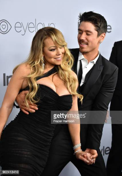 Recording artist Mariah Carey and Bryan Tanaka attend the 19th Annual PostGolden Globes Party hosted by Warner Bros Pictures and InStyle at The...