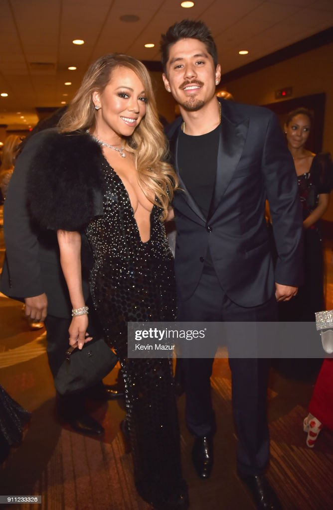 Recording artist Mariah Carey (L) and Bryan Tanaka attend the Clive Davis and Recording Academy Pre-GRAMMY Gala and GRAMMY Salute to Industry Icons Honoring Jay-Z on January 27, 2018 in New York City.