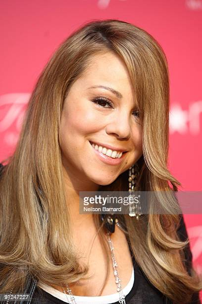 Recording artist Mariah Carey arrives to showcase her new fragrance Forever at Macy's Herald Square on September 29 2009 in New York City