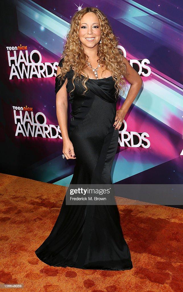 Recording artist Mariah Carey attends TeenNick HALO Awards at The Hollywood Palladium on November 17, 2012 in Los Angeles, California.