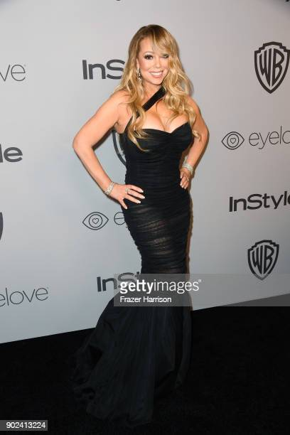 Recording artist Mariah Carey attends the 19th Annual PostGolden Globes Party hosted by Warner Bros Pictures and InStyle at The Beverly Hilton Hotel...