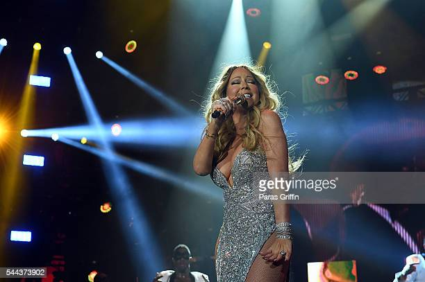 Recording artist Mariah Carey performs on stage during the 2016 Essence Festival at the Louisiana Superdome on July 2 2016 in New Orleans Louisiana