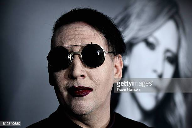 Recording Artist Marilyn Manson attends the Premiere of Drafthouse Films' 'We Are X'at TCL Chinese Theatre on October 3 2016 in Hollywood California
