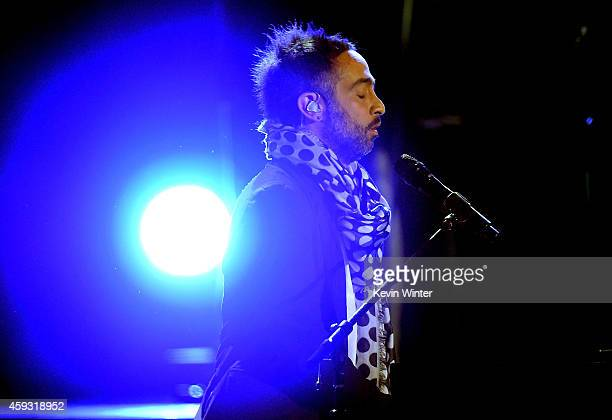 Recording artist Mario Domm of music group Camila performs onstage during the 15th annual Latin GRAMMY Awards at the MGM Grand Garden Arena on...