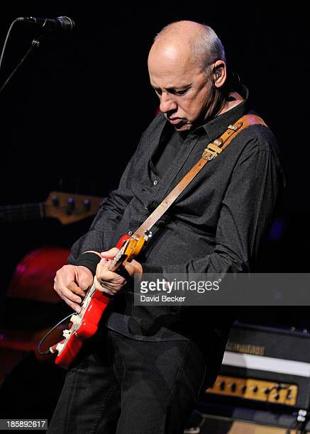 Recording artist Mark Knopfler performs at The Pearl concert theater at the Palms Casino Resort on October 25 2013 in Las Vegas Nevada