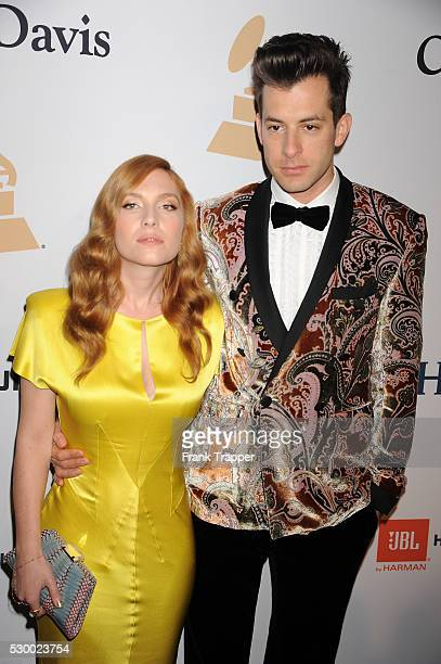 Recording artist Mark Ronson and wife Josephine de La Baume arrives at the Gala and Salute To Industry Icons honoring Martin Bandier at The Beverly...