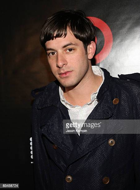 Recording artist Mark Ronson attends the album release party for QTip's The Renaissance hosted by Target at the Bowery Hotel on October 27 2008 in...