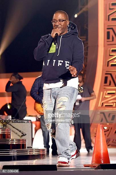 Recording artist Markell Riley of WreckxnEffect performs during rehearsals for the 2016 Soul Train Music Awards on November 5 2016 in Las Vegas Nevada
