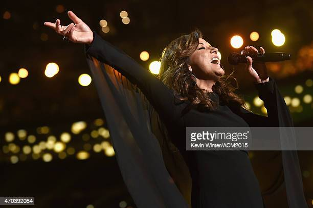 Recording artist Martina McBride performs onstage during the 50th Academy of Country Music Awards at ATT Stadium on April 19 2015 in Arlington Texas