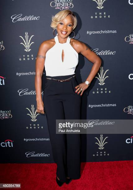 Recording Artist Mary J Blige attends The Grove's 11th Annual Christmas Tree Lighting Spectacular at The Grove on November 17 2013 in Los Angeles...