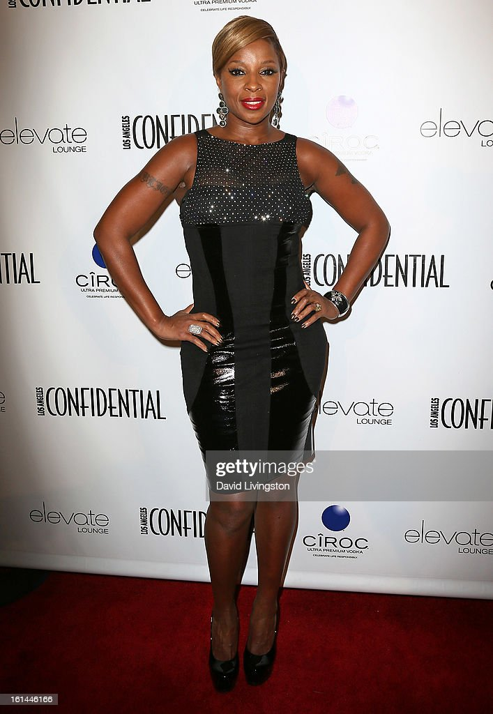 Recording artist Mary J. Blige attends the Los Angeles Confidential Magazine and Mary J. Blige celebration of the GRAMMY Awards at Elevate Lounge on February 10, 2013 in Los Angeles, California.