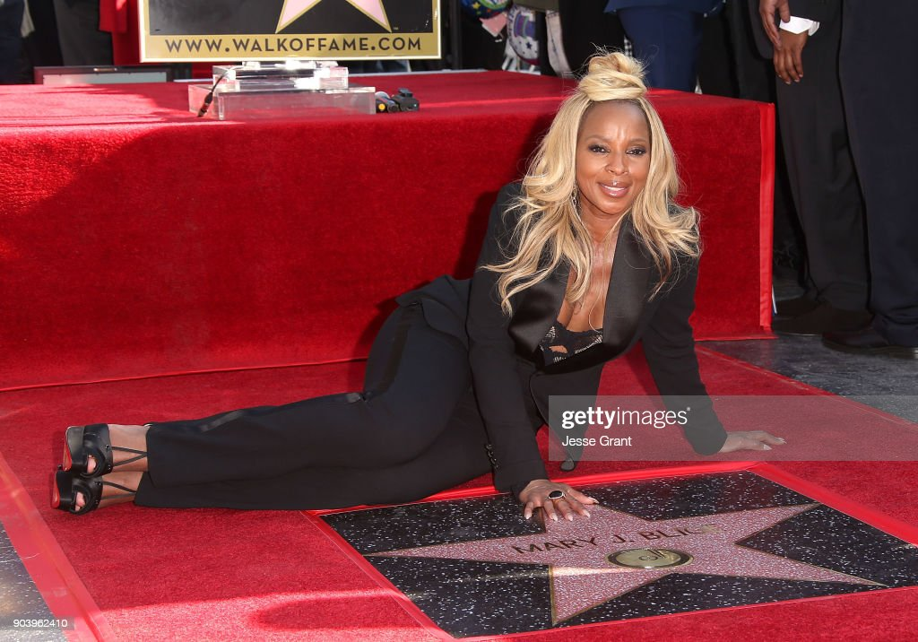 Recording artist Mary J. Blige is honored with a star on The Hollywood Walk of Fame on January 11, 2018 in Hollywood, California.