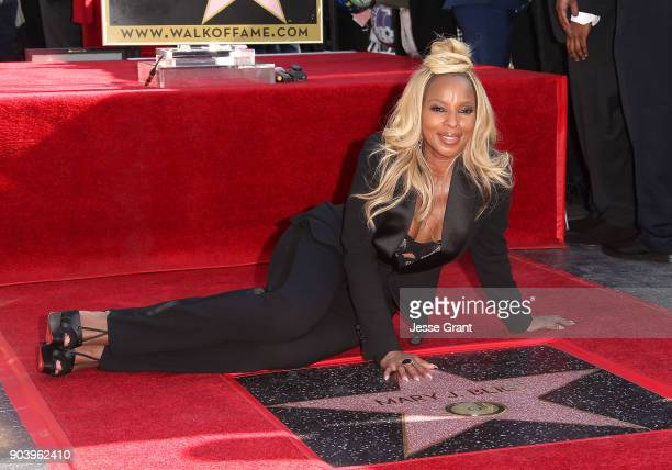 Recording artist Mary J Blige is honored with a star on The Hollywood Walk of Fame on January 11 2018 in Hollywood California