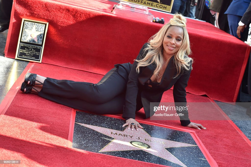 Recording artist Mary J. Blige is honored with star on the Hollywood Walk of Fame on January 11, 2018 in Hollywood, California.