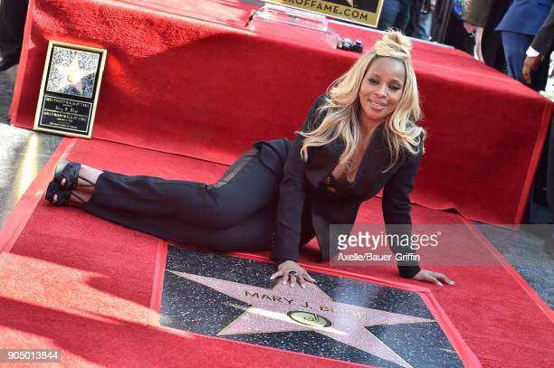 Recording artist Mary J Blige is honored with star on the Hollywood Walk of Fame on January 11 2018 in Hollywood California