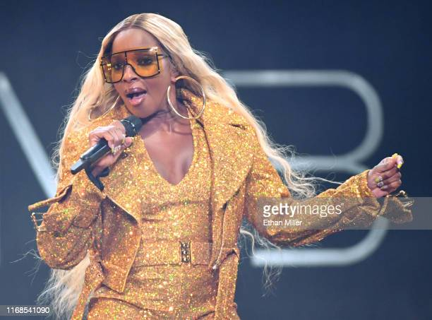 Recording artist Mary J Blige performs at The Joint inside the Hard Rock Hotel Casino on August 16 2019 in Las Vegas Nevada