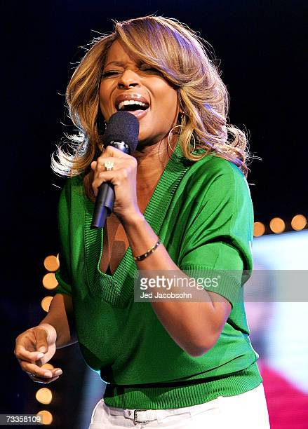 Recording artist Mary J Blige performs for NBA Cares during NBA AllStar Weekend on February 17 2007 at Thomas Mack Center in Las Vegas Nevada NOTE TO...