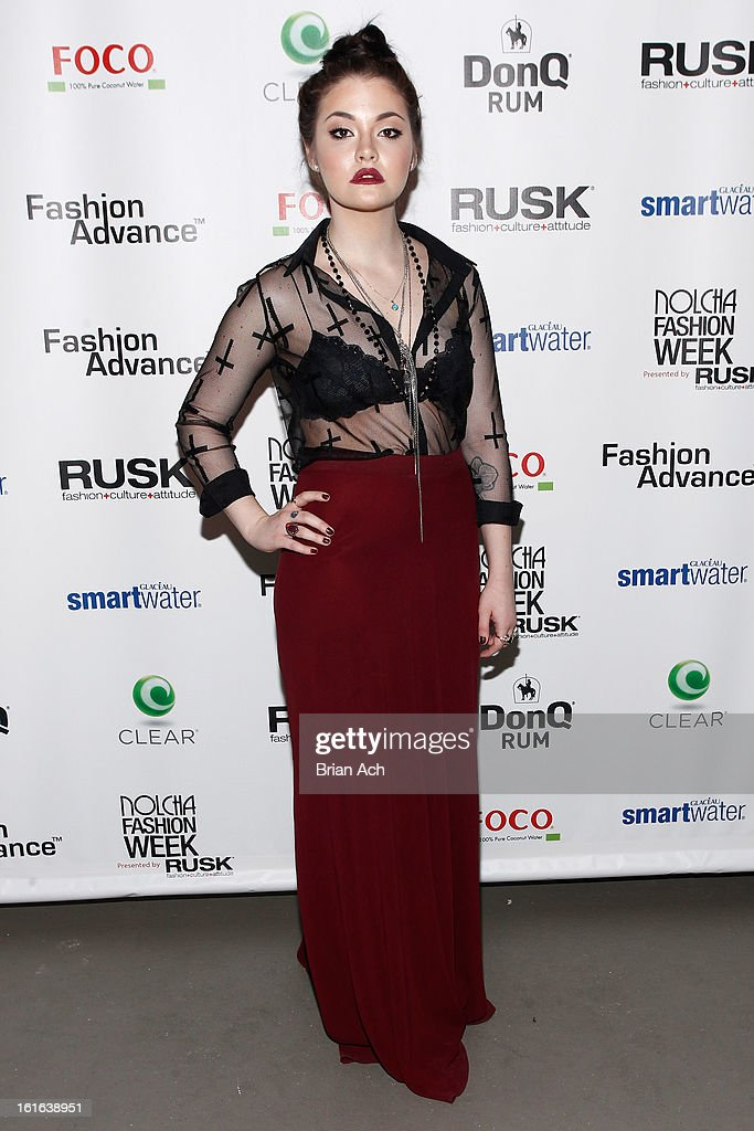 Recording artist Masha attends Nolcha Fashion Week New York 2013 presented by RUSK at Pier 59 Studios on February 13, 2013 in New York City.