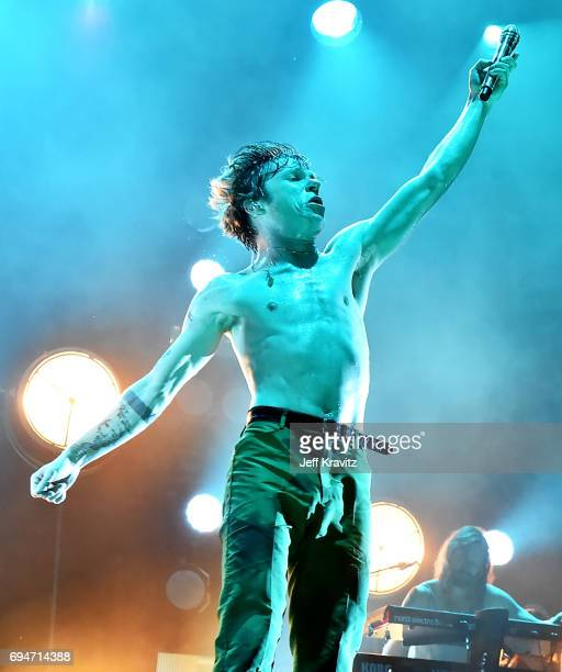 Recording artist Matt Shultz of Cage the Elephant performs onstage at What Stage during Day 3 of the 2017 Bonnaroo Arts And Music Festival on June 10...