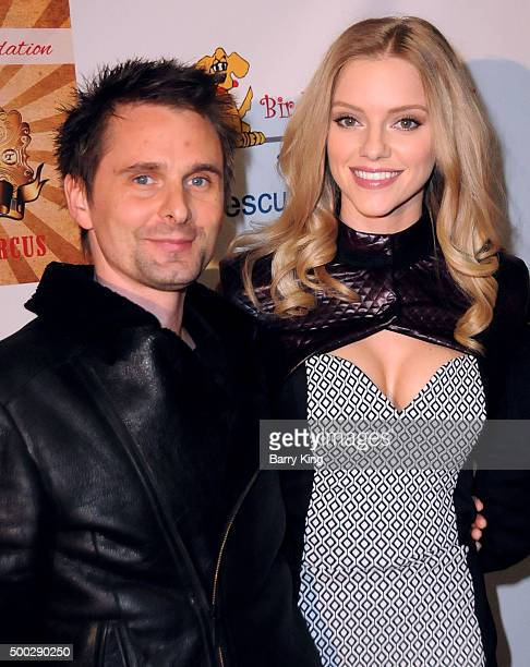 Recording Artist Matthew Bellamy of Muse and model Elle Evans attend Fundraising Event To Save Circus Animals Of Mexico Honoring Tippi Hedren And The...