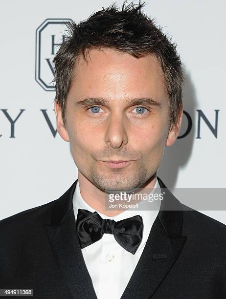 Recording artist Matthew Bellamy of Muse arrives at amfAR's Inspiration Gala Los Angeles at Milk Studios on October 29 2015 in Hollywood California