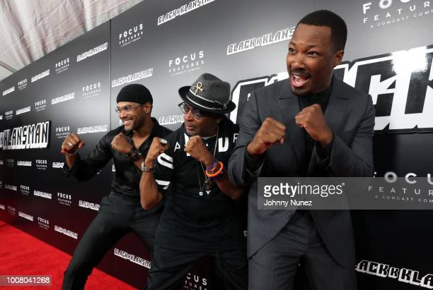 Recording artist Maxwell director Spike Lee and actor Corey Hawkins attend the BlacKkKlansman New York Premiere at Brooklyn Academy of Music on July...