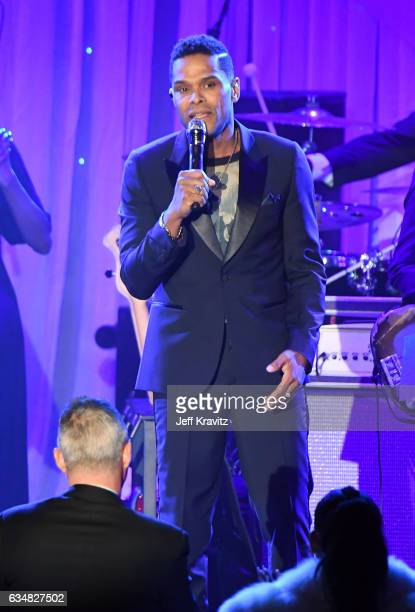 Recording artist Maxwell performs onstage at the 2017 PreGRAMMY Gala And Salute to Industry Icons Honoring Debra Lee at The Beverly Hilton Hotel on...
