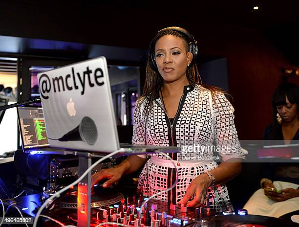 Recording Artist MC Lyte performs at the premiere party for NBC's 'Chicago Fire' 'Chicago PD' and 'Chicago Med' at STK Chicago on November 9 2015 in...