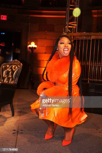 Recording artist Megan Thee Stallion appears onstage at #CRWN A Conversation With Elliott Wilson And Megan Thee Stallion at Gotham Hall on March 10...