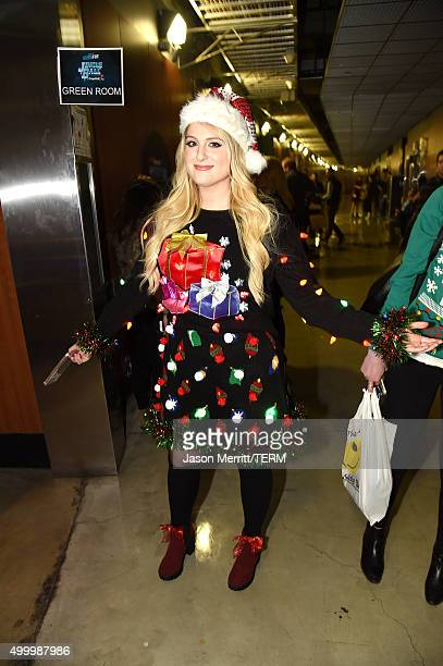 Recording artist Meghan Trainor attends 1027 KIIS FM's Jingle Ball 2015 Presented by Capital One at STAPLES CENTER on December 4 2015 in Los Angeles...