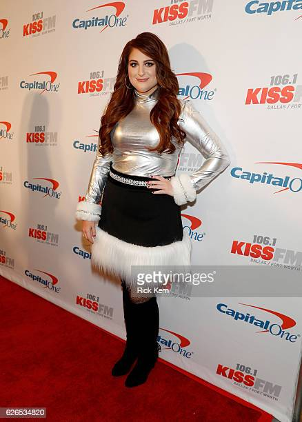 Recording artist Meghan Trainor attends 1061 KISS FM's Jingle Ball 2016 presented by Capital One at American Airlines Center on November 29 2016 in...