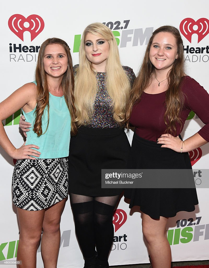 Recording artist Meghan Trainor (C) attends KIIS FM's Jingle Ball 2014 powered by LINE at Staples Center on December 5, 2014 in Los Angeles, California.