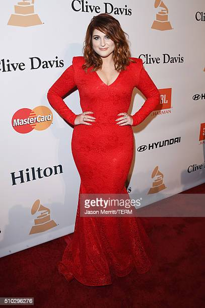 Recording artist Meghan Trainor attends the 2016 PreGRAMMY Gala and Salute to Industry Icons honoring Irving Azoff at The Beverly Hilton Hotel on...