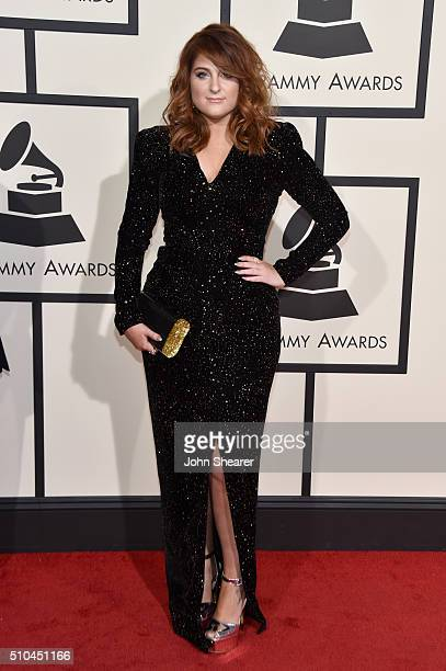 Recording artist Meghan Trainor attends The 58th GRAMMY Awards at Staples Center on February 15 2016 in Los Angeles California