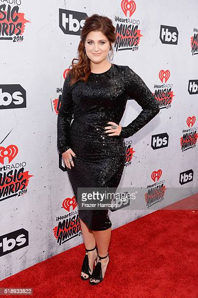 Recording artist Meghan Trainor attends the iHeartRadio Music Awards at The Forum on April 3 2016 in Inglewood California