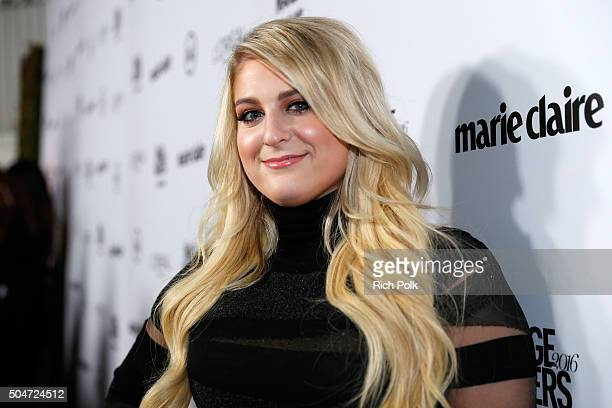 Recording artist Meghan Trainor attends the inaugural Image Maker Awards hosted by Marie Claire at Chateau Marmont on January 12 2016 in Los Angeles...