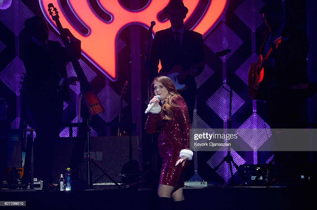 Recording artist Meghan Trainor performs onstage during 102.7 KIIS FM's Jingle Ball 2016 at Staples Center on December 2, 2016 in Los Angeles, California.