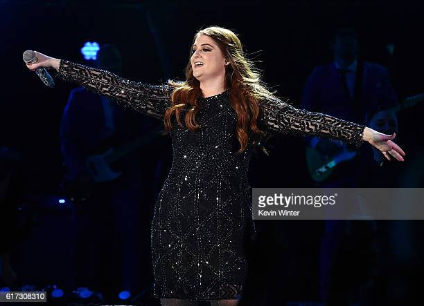 Recording artist Meghan Trainor performs onstage during CBS RADIO's fourth annual We Can Survive concert at the Hollywood Bowl on October 22 2016 in...
