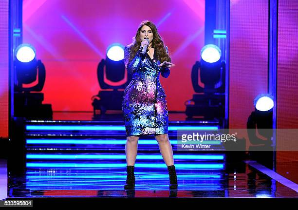 Recording artist Meghan Trainor performs onstage during the 2016 Billboard Music Awards at TMobile Arena on May 22 2016 in Las Vegas Nevada