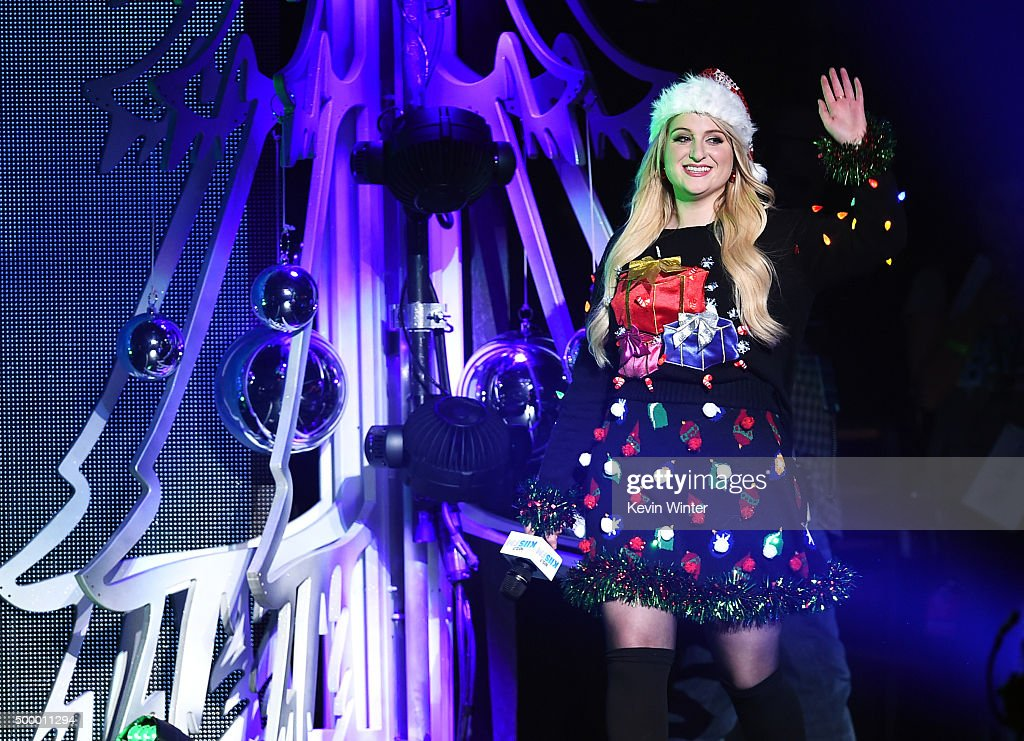 Recording artist Meghan Trainor speaks onstage during 102.7 KIIS FM's Jingle Ball 2015 Presented by Capital One at STAPLES CENTER on December 4, 2015 in Los Angeles, California.