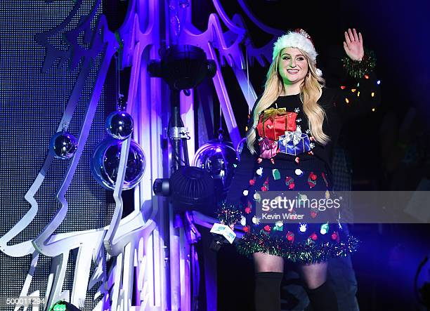 Recording artist Meghan Trainor speaks onstage during 102.7 KIIS FM's Jingle Ball 2015 Presented by Capital One at STAPLES CENTER on December 4, 2015...
