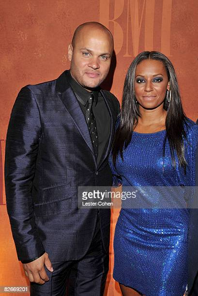 Recording artist Mel B and husband Stephen Belafonte attend the 2008 BMI Urban Awards held at the Wilshire Theatre on September 4 2008 in Los Angeles...