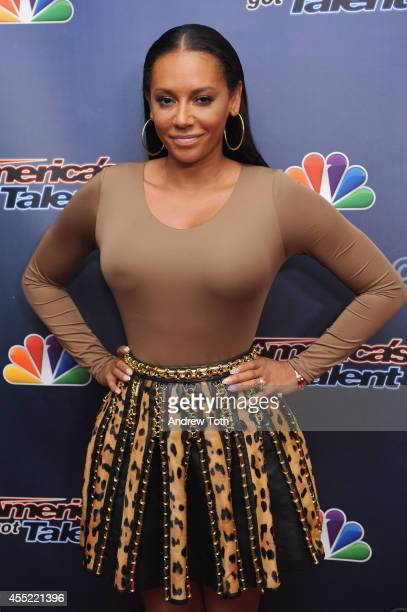Recording artist Mel B attends 'America's Got Talent' season 9 post show red carpet event at Radio City Music Hall on September 10 2014 in New York...