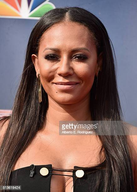 Recording artist Mel B attends NBC's 'America's Got Talent' Season 11 Kickoff at Pasadena Civic Auditorium on March 3 2016 in Pasadena California